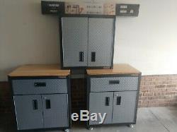 Gladiator Steel Garage Wall Cabinet Set 7 pieces (please read description)