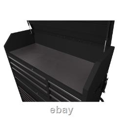 Heavy-Duty 56 In. W 18-Drawer Combination Tool Chest And Cabinet Set, Matte Blac
