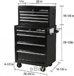Heavy Duty Tool Cabinet Storage Lockable 4 Drawer 26-Inch Tool Set Organizer