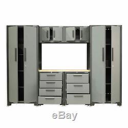 Hilka 24 Gauge Steel 7 Piece Modular Cabinet Set