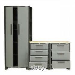 Hilka 24 Professional Gauge Steel 4 Piece Modular Cabinet Set Workshop Garage