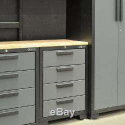 Hilka Professional 24 Gauge Steel 7 Piece Modular Cabinet Set