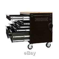 Husky 23 Drawer Tool Chest Rolling Cabinet Set Steel Wheels Textured Black Matt