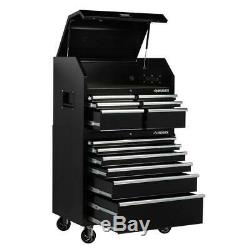 Husky 36 in. W 12-Drawer, Deep Combination Tool Chest and Cabinet Set in Gloss