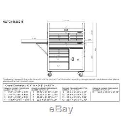 Husky 44 in. W 12-Drawer Deep Combination Tool Chest and Rolling Cabinet Set in