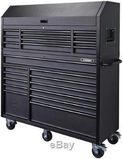 Husky 56 in. 23-Drawer Tool Chest and Rolling Cabinet Set 18 Ga. Steel 22 in