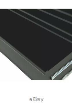 Husky 56 in. Tool Chest Rolling Cabinet 23-Drawer Set 18 Ga. Steel Black Matte