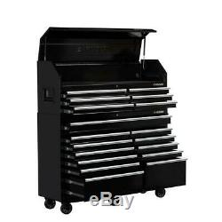 Husky 61 In. W 18-Drawer Combination Tool Chest And Rolling Cabinet Set In Gloss
