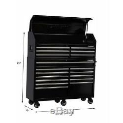 Husky 61 in. W 18-Drawer Combination Tool Chest and Rolling Cabinet Set in