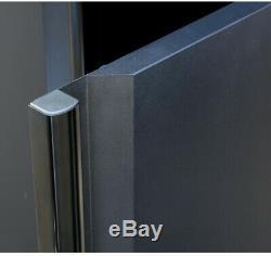 Husky Garage Cabinet Set 54 in. W x 75 in. H x 19 in. D Steel Black (3-Piece)
