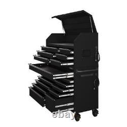 Husky Heavy-Duty Tool Chest Cabinet Set 56-Inch W 18-Drawer Matte Black