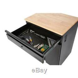 Husky Heavy Duty Welded 156x81x24 in Steel Garage Cabinet Set in Black (7-Piece)