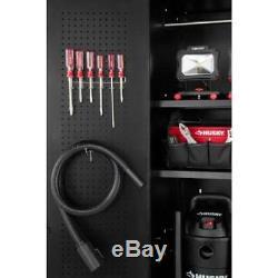Husky Heavy Duty Welded 184x81x24 in Steel Garage Cabinet Set in Black (8-Piece)