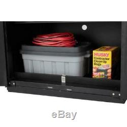 Husky Heavy Duty Welded 276x81x24 in Steel Garage Cabinet Set Black (14-Piece)