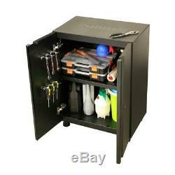 Husky Steel Garage Cabinet Set Black 5-Piece Welded 78 in W x 75 in H x 19 in D