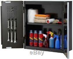 Husky Steel Garage Cabinet Set in Black (6-Piece) 1 Drawer 2 Door Grommet New