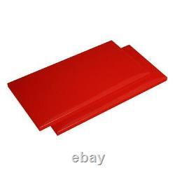 Husky Steel Shelf Set Freestanding Garage Cabinet 30 W x 15 D Red (2-Pack)