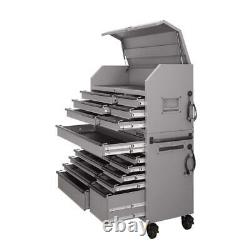 Husky Tool Chest Cabinet Set 18-Drawer Combination 56-Inch Matte Gray