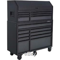 Husky Tool Chest Rolling Cabinet Set 52 in. W 15-Drawers Ball Bearing Slides