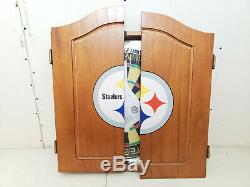 Imperial Official NFL Dart Cabinet Set with Steel Tip Darts Pittsburgh Steelers