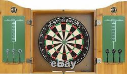 Imperial Officially Licensed NHL Dart Cabinet Set with Steel Tip Bristle Dart