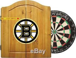 Imperial Officially Licensed Nhl Dart Cabinet Set With Steel Tip Bristle Dartboa