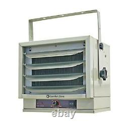 Industrial Space Heater Fan Ceiling Mounted Louvers 3 Setting 5000W Comfort Zone