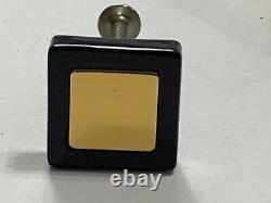 Jado Germany Cabinet Knobs Set of 10 Ebony withPerlrand 24K Gold Plated Center