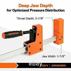 Jorgensen 18 Bar Clamp Set, 2-pack 90° Parallel Clamp Cabinet Master, Steel Jaw