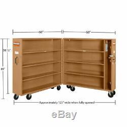 Knaack 100 60.9 Cu Ft 16-Ga Steel Folding Rolling Steel Cabinet with6 Caster Set