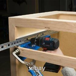 Kreg Drawer Slide Cabinet Hardware Concealed Hinge Jigs plus 2 clamp set