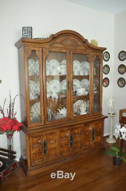 LAST DAY! Package 3 wood dining room set 6 chairs, and china cabinet
