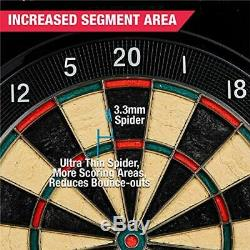 MD Sports Electronic Dartboard Cabinet Set Bristlesmart (Steel Tip Darts)