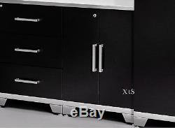 Metal Garage Cabinets Set Mechanic Tool Storage Shelves Tall Locker Boxes System