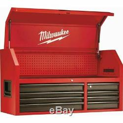 Milwaukee Steel Tool Chest 46 16 Drawer Rolling Cabinet Set Textured Red Black
