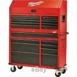 Milwaukee Tool Chest Rolling Cabinet Set Steel Textured 46 16 Drawer Soft