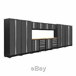 NewAge 14-Piece Steel Set Workbench Cabinets Garage Storage Tool Box Workshop
