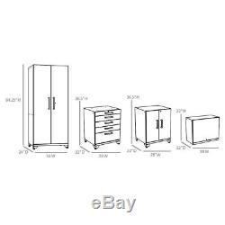 NewAge Performance 10-piece Garage Organizer workbech storage steel Cabinet Set