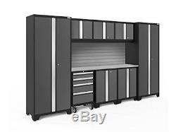 NewAge Products 50409 Bold 3.0 Garage Storage Cabinet Set with Stainless Steel W