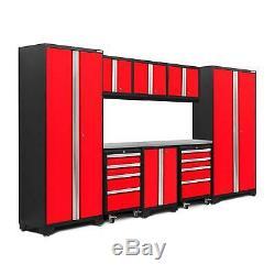 NewAge Products Bold 3.0 9-Piece Set Garage Storage Tool Cabinets Workbench
