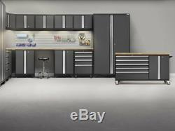 NewAge Products Bold 3.0 Cabinets Workbench 7 PC Set Gray Stainless Steel