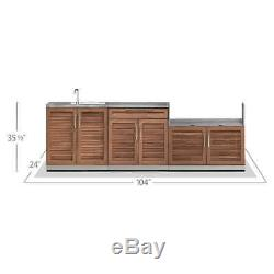 NewAge Stainless Steel Outdoor Kitchen Sink Isand Grill Cabinet Bar Counter Set