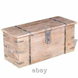 New 2 Piece Solid Wood Storage Chest Set Lockable Coffee Table Cabinet