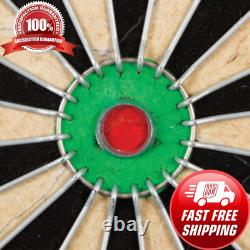 New Bristle Dartboard Self-Healing Sisal Board Cabinet Set 6 Steel Tip Darts 18
