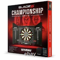 New Bristle Winmau Blade 5 Championship Dartboard, Cabinet Darts Set TOP QUALITY