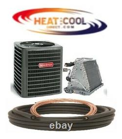 New Goodman Std. Efficiency 13 SEER Central Air A/C Package with Coil & Line Set