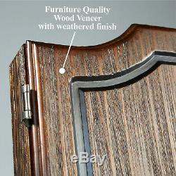 New Premium Wooden Cabinet Dartboard Set Steel Tip Darts High Quality Man Cave