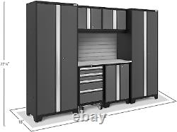 Newage Products Bold Series Gray 7 Piece Set, Garage Cabinets, 50199