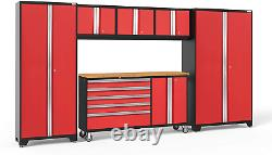 Newage Products Bold Series Red 6 Piece Set, Garage Cabinets, 56261