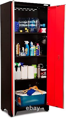 Newage Products Bold Series Red 9 Piece Set, Garage Cabinets, 50608
